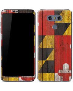 Maryland Flag Dark Wood LG G6 Skin