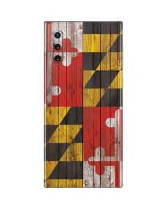 Maryland Flag Dark Wood Galaxy Note 10 Skin