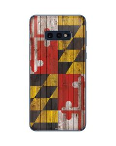 Maryland Flag Dark Wood Galaxy S10e Skin