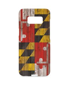 Maryland Flag Dark Wood Galaxy S8 Plus Lite Case