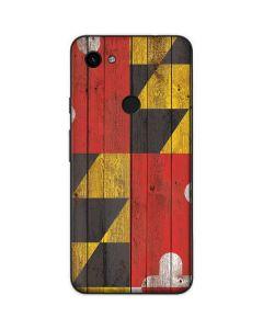 Maryland Flag Dark Wood Google Pixel 3a Skin