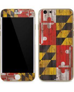 Maryland Flag Dark Wood iPhone 6/6s Skin