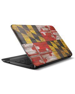 Maryland Flag Dark Wood HP Notebook Skin