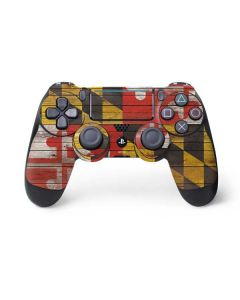 Maryland Flag Dark Wood PS4 Pro/Slim Controller Skin