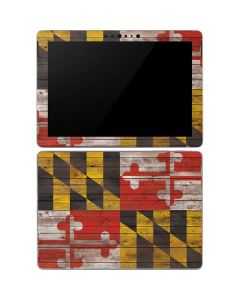 Maryland Flag Dark Wood Surface Go Skin