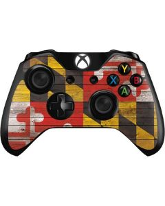 Maryland Flag Dark Wood Xbox One Controller Skin
