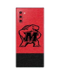 Maryland Terrapins Red Split Galaxy Note 10 Skin
