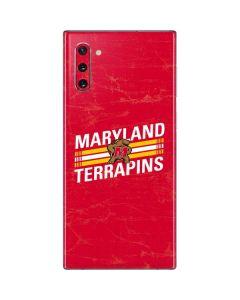 Maryland Terrapins Stripes Galaxy Note 10 Skin