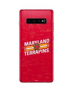 Maryland Terrapins Stripes Galaxy S10 Plus Skin