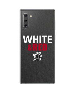 Maryland Terrapins White and Red Galaxy Note 10 Skin