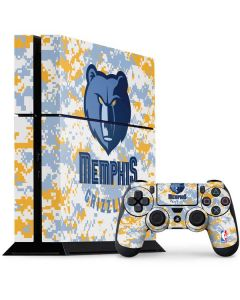 Memphis Grizzlies Digi Camo PS4 Console and Controller Bundle Skin