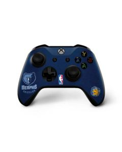 Memphis Grizzlies Distressed Xbox One X Controller Skin