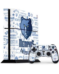 Memphis Grizzlies Historic Blast PS4 Console and Controller Bundle Skin
