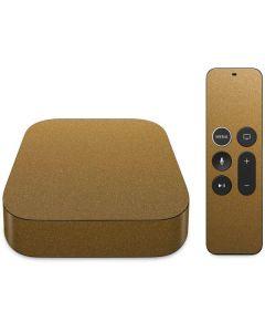 Metallic Gold Texture Apple TV Skin