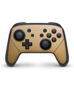 Metallic Gold Texture Nintendo Switch Pro Controller Skin