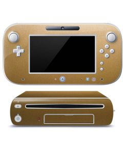 Metallic Gold Texture Wii U (Console + 1 Controller) Skin