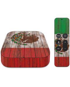 Mexican Flag Dark Wood Apple TV Skin