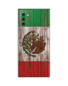 Mexican Flag Dark Wood Galaxy Note 10 Skin