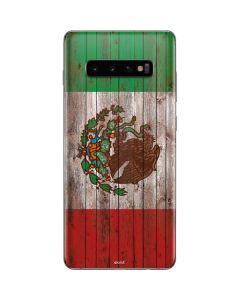 Mexican Flag Dark Wood Galaxy S10 Plus Skin