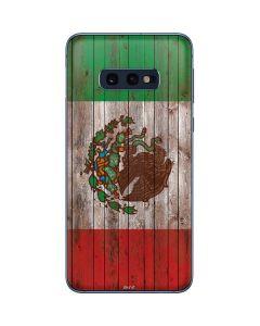 Mexican Flag Dark Wood Galaxy S10e Skin