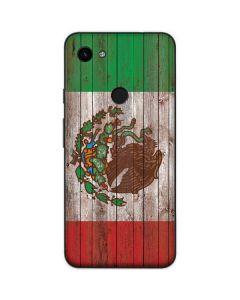 Mexican Flag Dark Wood Google Pixel 3a Skin