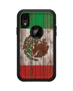 Mexican Flag Dark Wood Otterbox Defender iPhone Skin