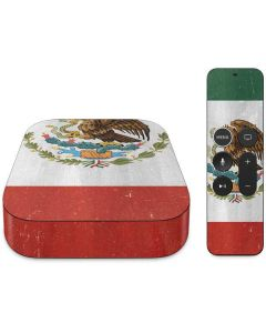 Mexico Flag Distressed Apple TV Skin