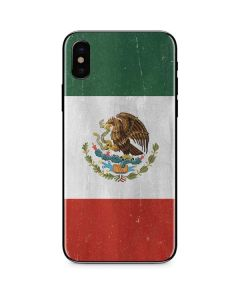 Mexico Flag Distressed iPhone XS Skin