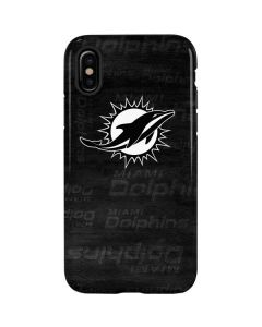 Miami Dolphins Black & White iPhone X Pro Case