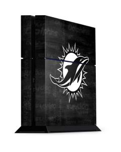 Miami Dolphins Black & White PS4 Console Skin