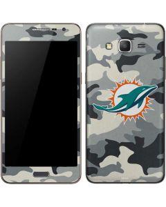 Miami Dolphins Camo Galaxy Grand Prime Skin