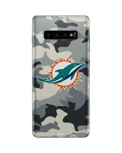 Miami Dolphins Camo Galaxy S10 Plus Skin