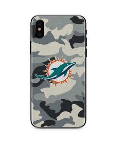 Miami Dolphins Camo iPhone X Skin