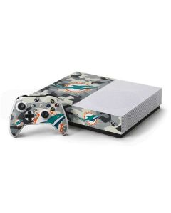Miami Dolphins Camo Xbox One S Console and Controller Bundle Skin