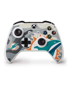 Miami Dolphins Camo Xbox One S Controller Skin