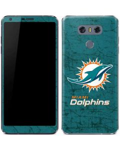 Miami Dolphins Distressed- Aqua LG G6 Skin