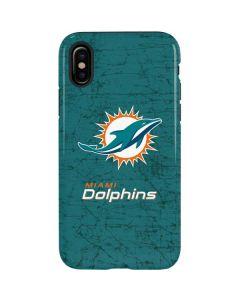 Miami Dolphins Distressed- Aqua iPhone X Pro Case