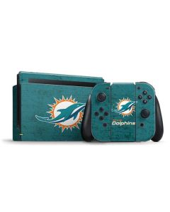 Miami Dolphins Distressed- Aqua Nintendo Switch Bundle Skin