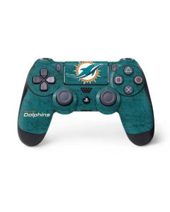 Miami Dolphins Distressed- Aqua PS4 Controller Skin