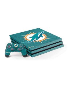 Miami Dolphins Distressed- Aqua PS4 Pro Bundle Skin
