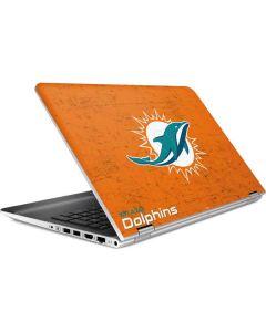 Miami Dolphins Distressed- Orange HP Pavilion Skin
