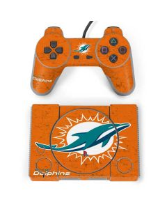 Miami Dolphins Distressed- Orange PlayStation Classic Bundle Skin