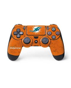 Miami Dolphins Distressed- Orange PS4 Controller Skin