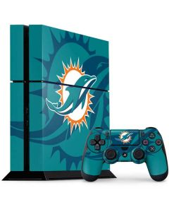 Miami Dolphins Double Vision PS4 Console and Controller Bundle Skin