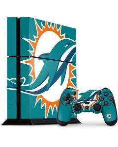 Miami Dolphins Large Logo PS4 Console and Controller Bundle Skin