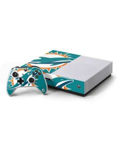 Miami Dolphins Large Logo Xbox One S Console and Controller Bundle Skin