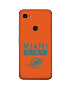 Miami Dolphins Orange Performance Series Google Pixel 3a Skin