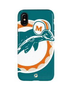 Miami Dolphins Retro Logo iPhone XS Pro Case