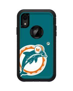 Miami Dolphins Retro Logo Otterbox Defender iPhone Skin