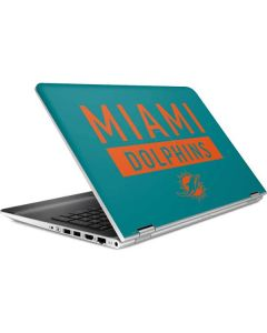 Miami Dolphins Teal Performance Series HP Pavilion Skin